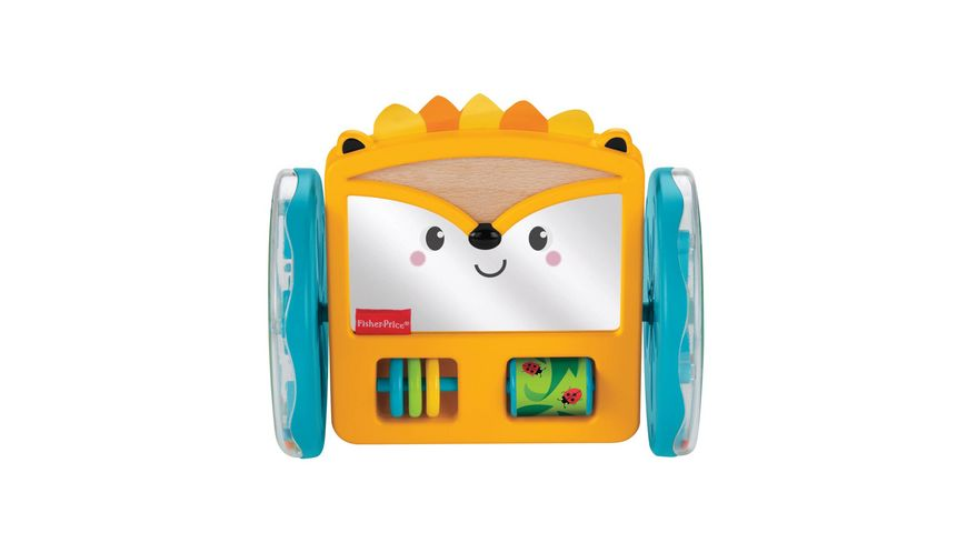 Fisher-Price Rollender Igel-Spiegel, Baby-Spielzeug, Krabbel-Spielzeug
