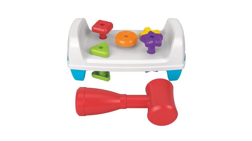 Fisher-Price Werkbank mit Spielzeughammer, Kinder-Spielzeug, Motorik-Spielzeug