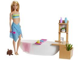 Barbie Wellnesstag Puppe Sprudelndes Bad Anziehpuppe blond Barbie Badewanne
