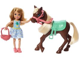 Mattel Barbie Chelsea Puppe Pony blond