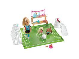 Barbie Traumvilla Abenteuer Chelsea Fussballerin Puppe und Spielset