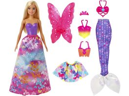 Mattel Barbie Dreamtopia 3 in1 Fantasie Spielset blond