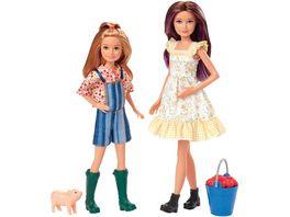 Mattel Barbie Spass auf dem Bauernhof Skipper Stacie Puppen