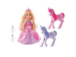 Mattel Barbie Dreamtopia Chelsea Puppe und Einhoerner