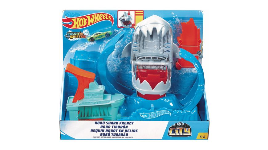 Mattel Hot Wheels City Robo Hai Angriff Spielset
