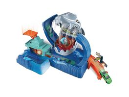 Hot Wheels Robo Hai Angriff Spielset mit Looping inkl 1 Farbwechsel Auto