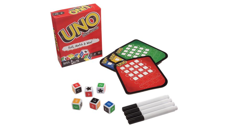 Mattel Games UNO Wuerfelspiel D