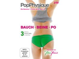 Fitness Friends Pop Physique Bauch Beine Po 3 DVDs