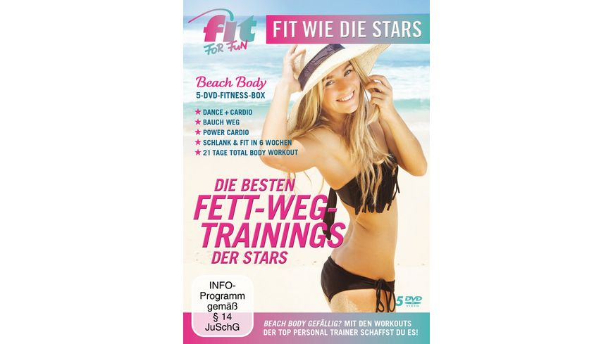 Fit for Fun Fit wie die Stars Die besten Fett Weg Trainings der Stars 5 DVDs