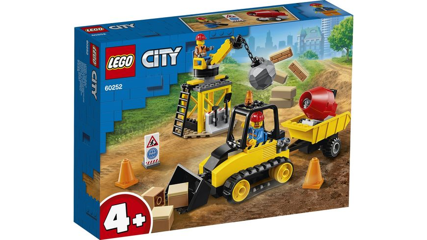 LEGO City 60252 Bagger auf der Baustelle