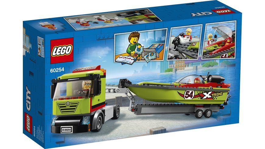 LEGO City 60254 Rennboot Transporter
