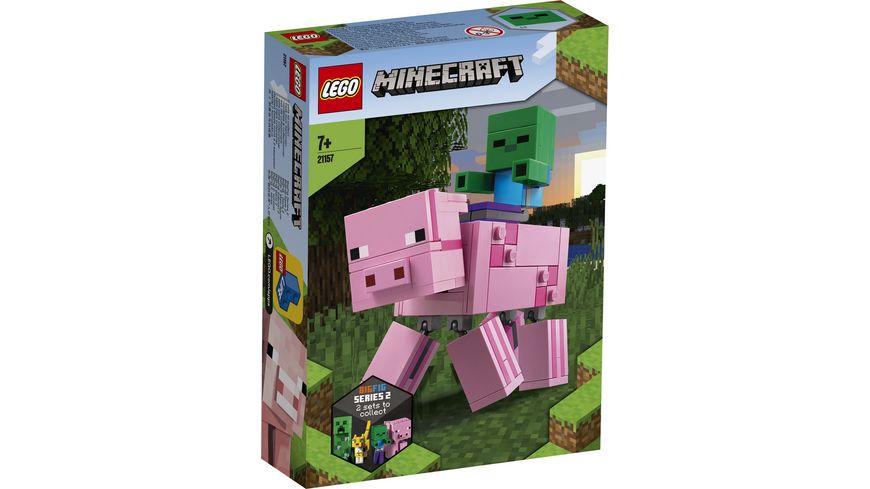 LEGO Minecraft 21157 BigFig Schwein mit Zombiebaby