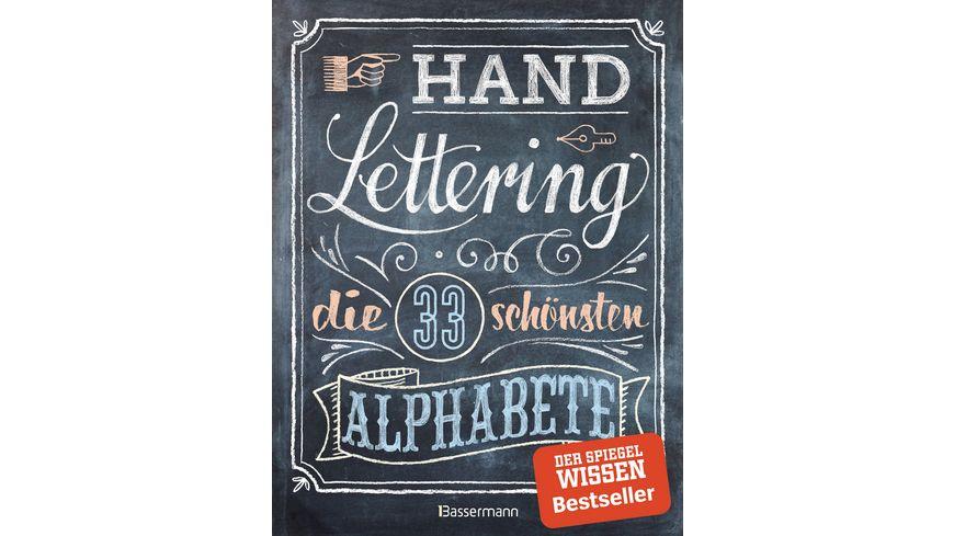 Handlettering Die 33 schoensten Alphabete mit Rahmen Ornamenten und Bordueren