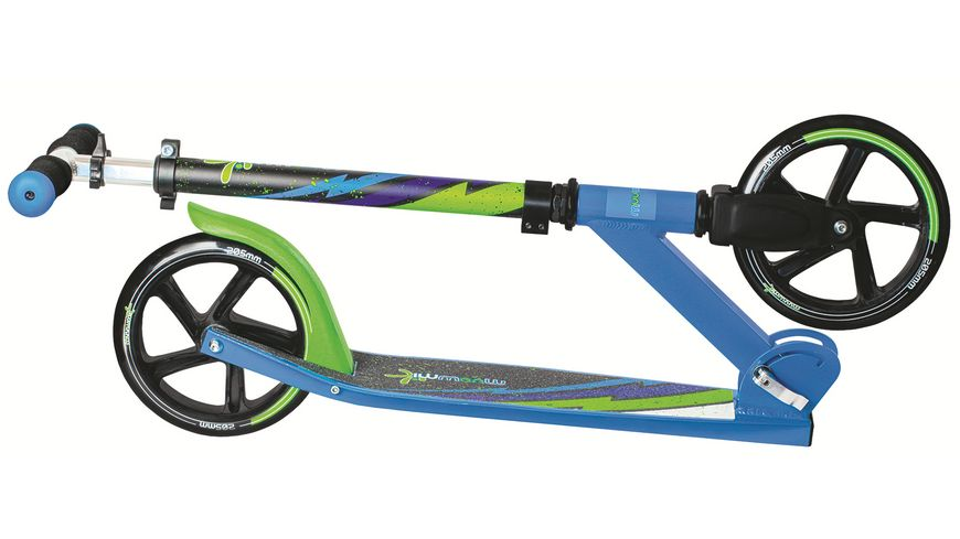Authentic Aluminium Scooter Muuwmi 205mm GRUEN BLAU SCHWARZ