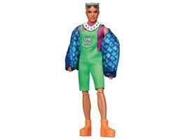 Mattel Barbie Barbie BMR1959 voll bewegliche Ken Modepuppe mit neonfarbenem Haar