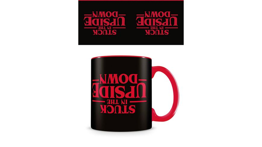 Stranger Things Upside Down Black Tasse Keramik Kaffeebecher Film Kino