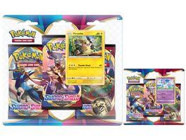 Pokemon Sammelkartenspiel Schwert Schild 3 Pack Blister 1 Stueck sortiert