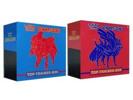 Pokemon Sammelkartenspiel Top Trainer Box Schwert Schild 1 Stueck sortiert
