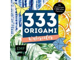 333 Origami Watercolor Mit Anleitungen und 333 feinen Papieren