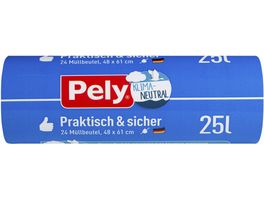 Pely KLIMA NEUTRAL Muellbeutel 25 Liter 24 Stueck