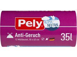Pely KLIMA NEUTRAL Zugband Beutel Anti Geruch 35 Liter 12 Stueck