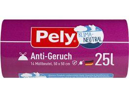 Pely KLIMA NEUTRAL Zugband Beutel Anti Geruch 25 Liter 14 Stueck