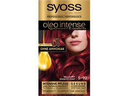 syoss Oleo Intense Oel Coloration 5 92 Helles Rot Stufe 3