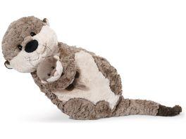 NICI Kissen figuerlich Otter Mama Oda mit Kind Odalina