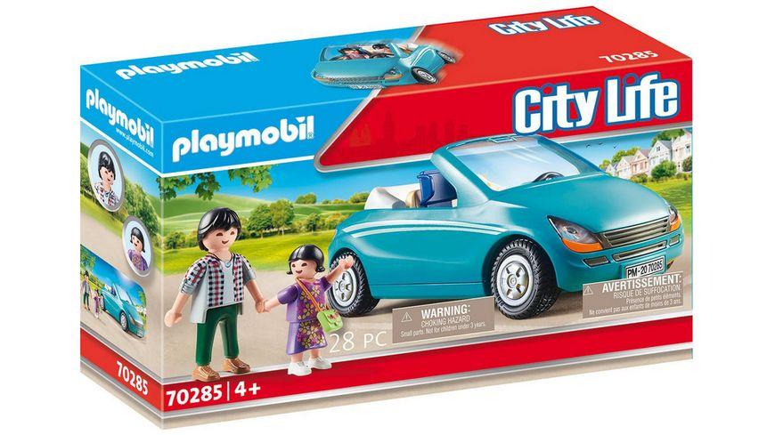 PLAYMOBIL 70285 - City Life - Papa und Kind mit Cabrio
