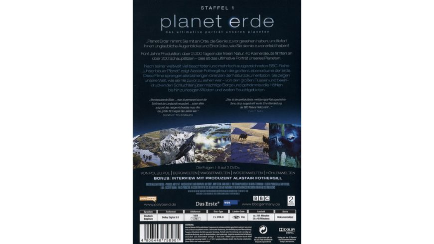Planet Erde Staffel 1 2 DVDs