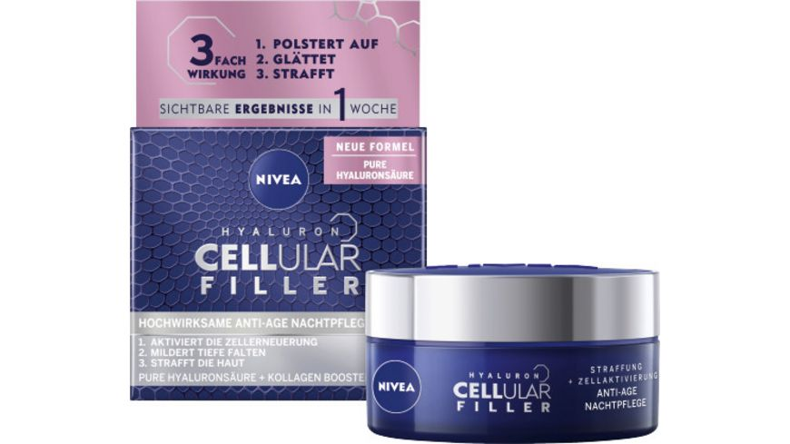 NIVEA Hyaluron Cellular Filler Anti Age Nachtpflege
