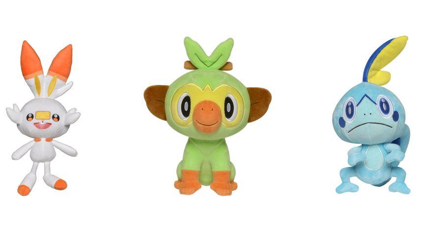 BOTI Pokemon Pluesch Schwert Schild 1 Stueck sortiert