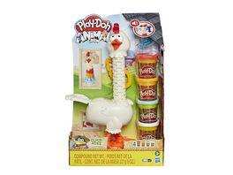 Hasbro Play Doh Animal Crew Cluck a Dee Verruecktes Huhn Bauernhof Spielset mit 4 Play Doh Farben