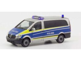 Herpa 094726 Mercedes Benz Vito Polizei Saarland