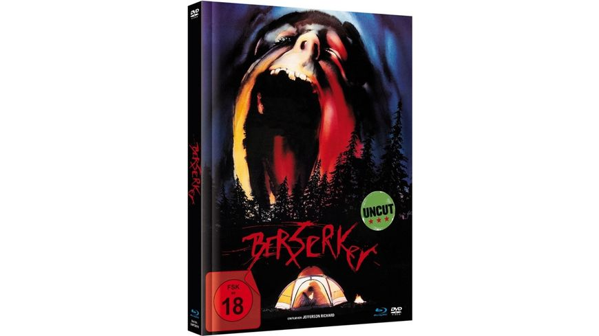 Berserker Limited Mediabook Edition Blu ray DVD plus Booklet digital remastered