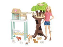 Mattel Barbie Tierpflegerin Puppe und Rettungsstation Spielset