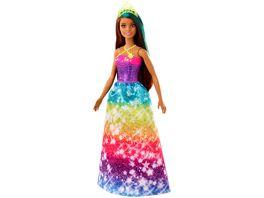 Barbie Dreamtopia Prinzessin Puppe bruenett und tuerkisfarbenes Haar Anziehpuppe