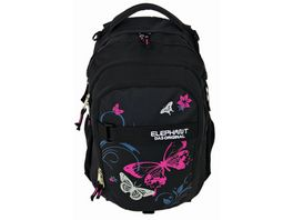 ELEPHANT Rucksack schwarz pink