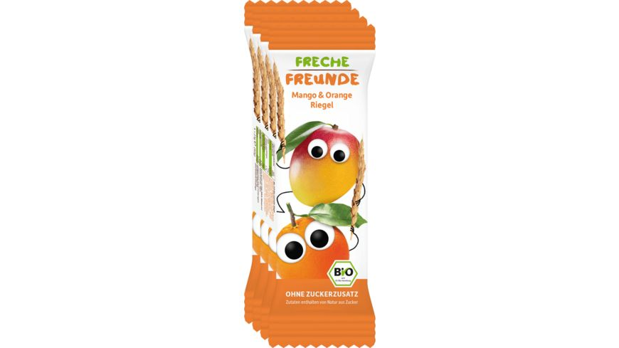Freche Freunde Bio Frecher Riegel Mango & Orange 4x23g
