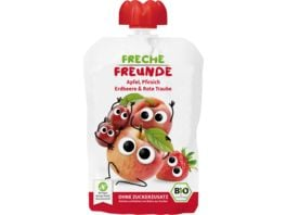 Freche Freunde Bio Quetschie Apfel Pfirsich Erdbeere rote Traube