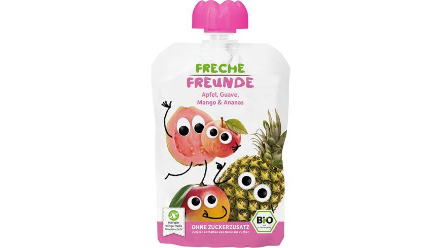 Freche Freunde Bio Quetschie Apfel, Guave, Mango & Ananas