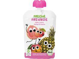 Freche Freunde Bio Quetschie Apfel Guave Mango Ananas