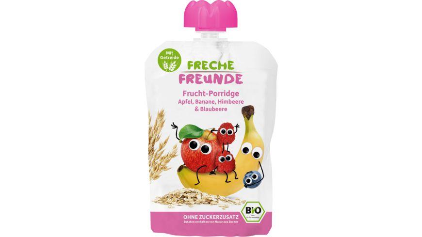 Freche Freunde Bio Frucht-Porridge Apfel, Banane, Himbeere & Blaubeere