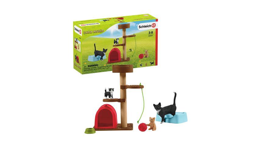 Schleich 42501 Spielspass fuer niedliche Katzen