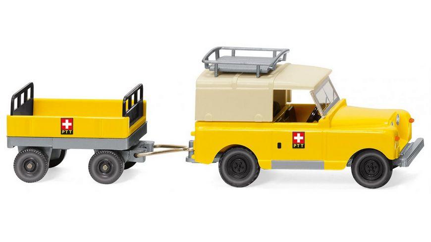 WIKING 010005 Land Rover mit Anhaenger PTT 1 87