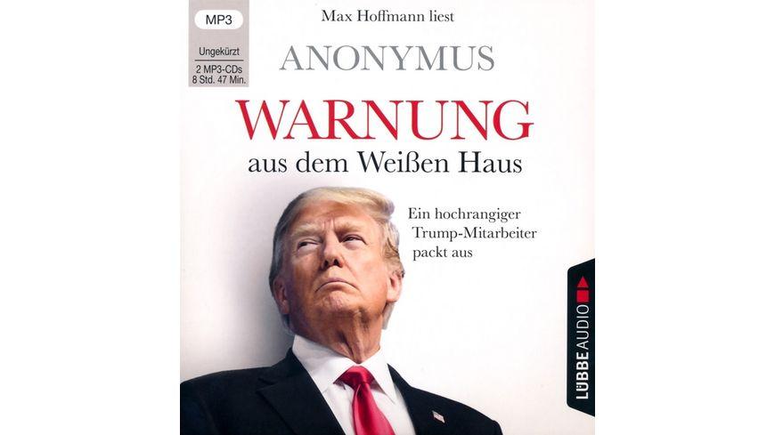 Warnung aus dem Weissen Haus Ein hochrangiger Trum