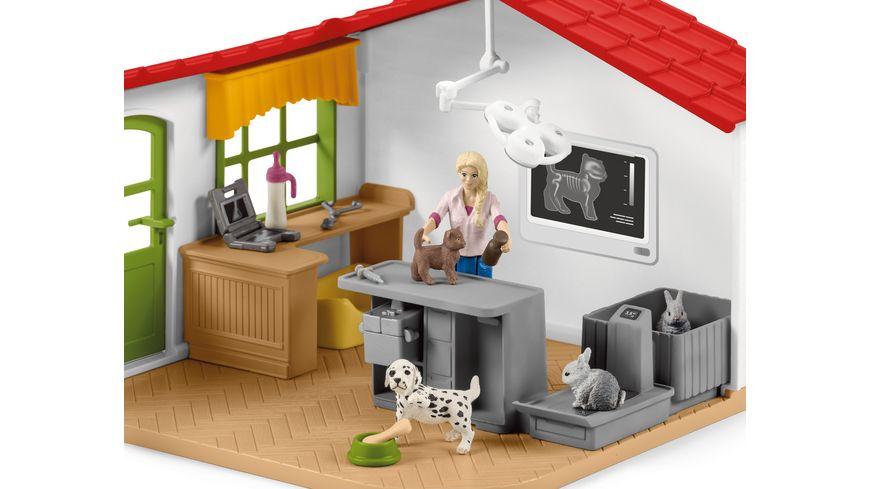 Schleich 42502 Farm World Tierarzt Praxis mit Haustieren