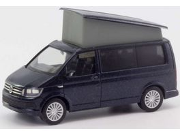 Herpa 038744 VW T6 California starlight blue metallic 1 87