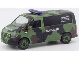 Herpa 700719 VW T6 Bus Flecktarn Bundeswehr Feldjaeger 1 87