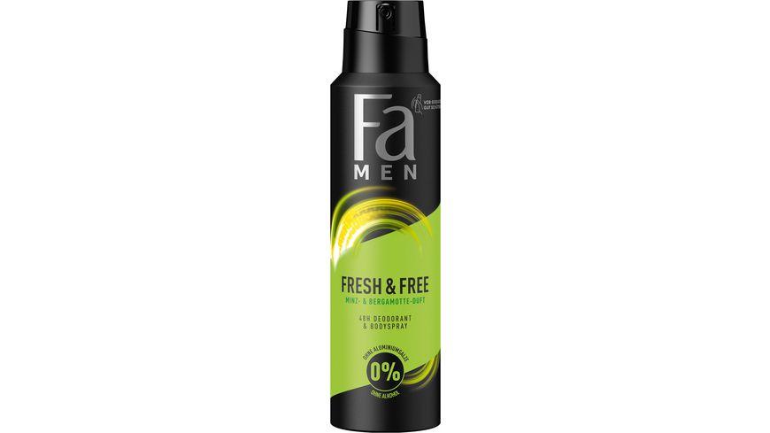 Fa Deospray Fresh Free Men Mint Bergamotte